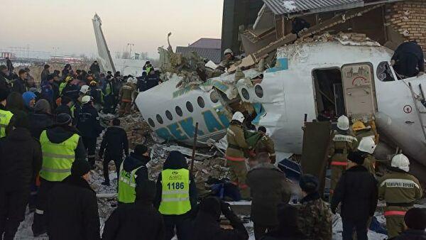 Назарбаев соболезнует в связи с крушением самолета в Алма-Ате