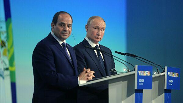 Путин обсудил с президентом Египта полное восстановление авиасообщения