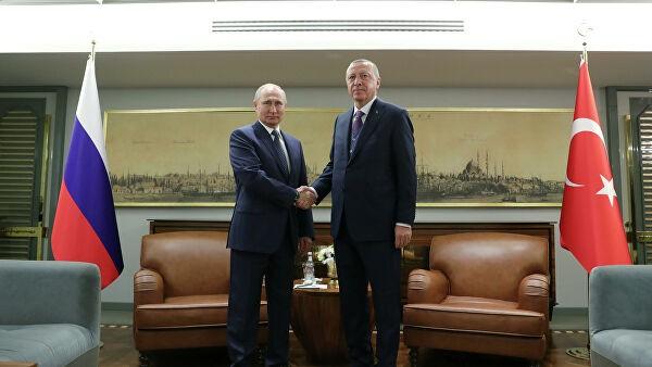 Путин и Эрдоган провели встречу с участием Шойгу и Лаврова