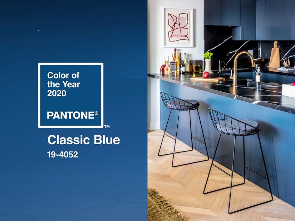 Синее синего: интерьеры в главном цвете Pantone 2020