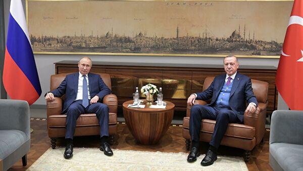 Путин и Эрдоган обсудили ситуацию в регионе после убийства Сулеймани