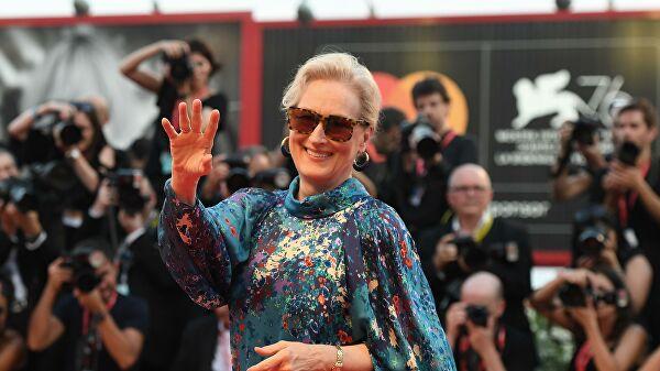 Мерил Стрип появилась на съемках нового фильма в необычном виде