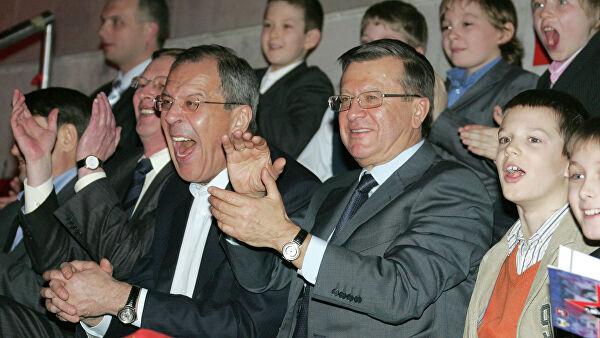 Слуцкий поздравил Лаврова с юбилеем