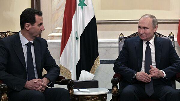 Путин провел телефонный разговор с Асадом