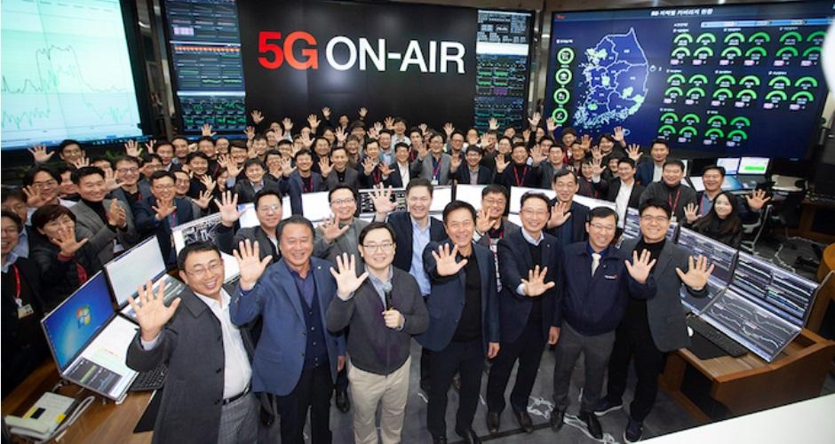 В Южной Корее число абонентов 5G достигло 5 млн
