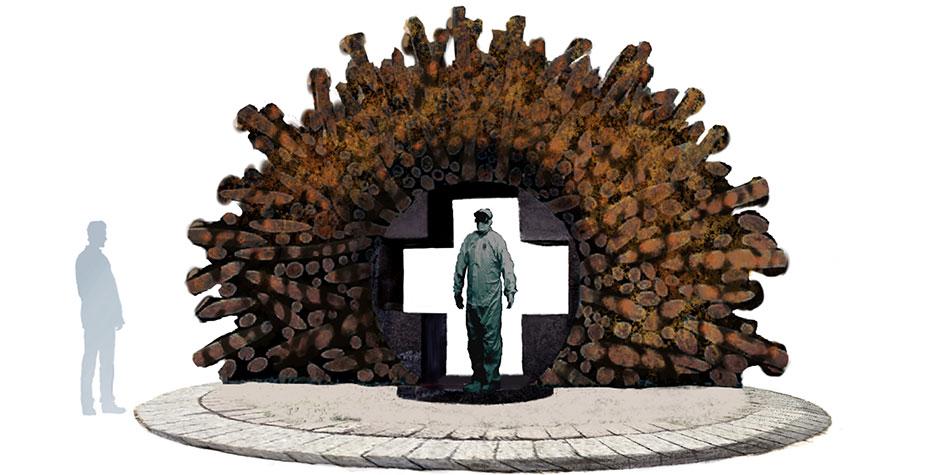 Памятник борющимся с COVID-19 врачам установят в России