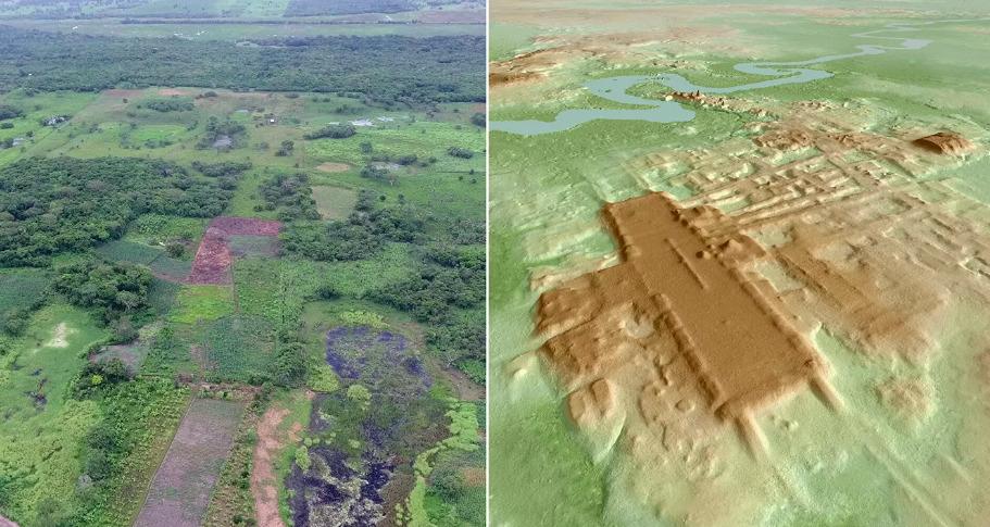 Археологи обнаружили гигантское сооружение майя