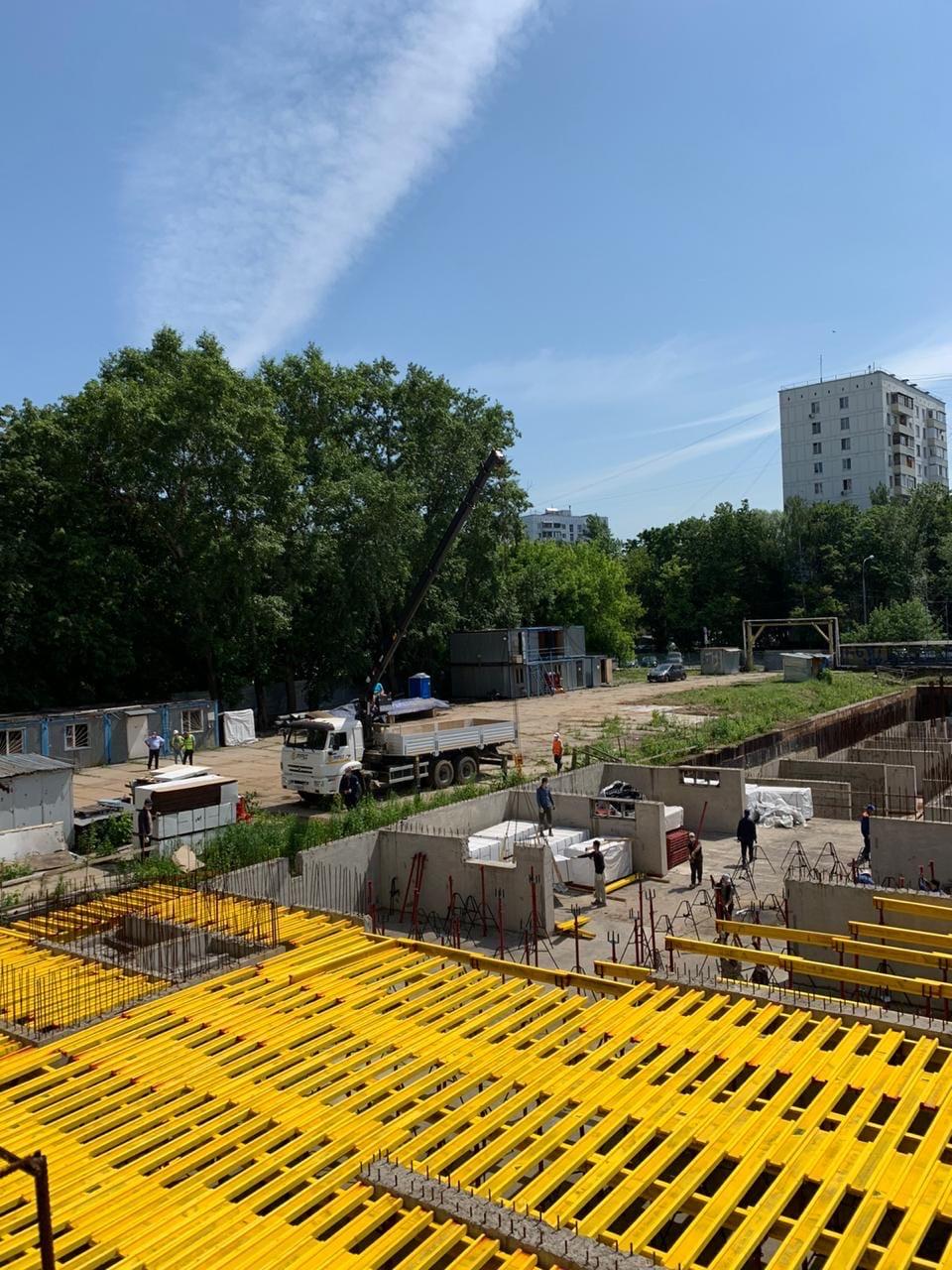 Количество рабочих на стройплощадке ЖК «Терлецкий парк» увеличат 4 раза к 1 июля