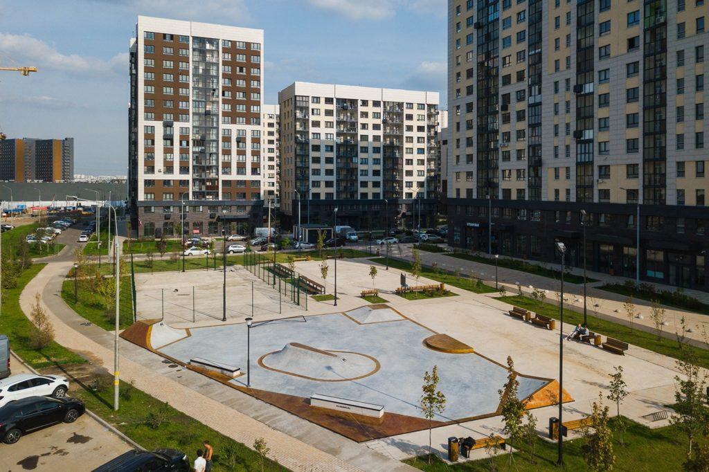 Cкейт-парк в ЖК «Кварталы 21/19» принял первых спортсменов