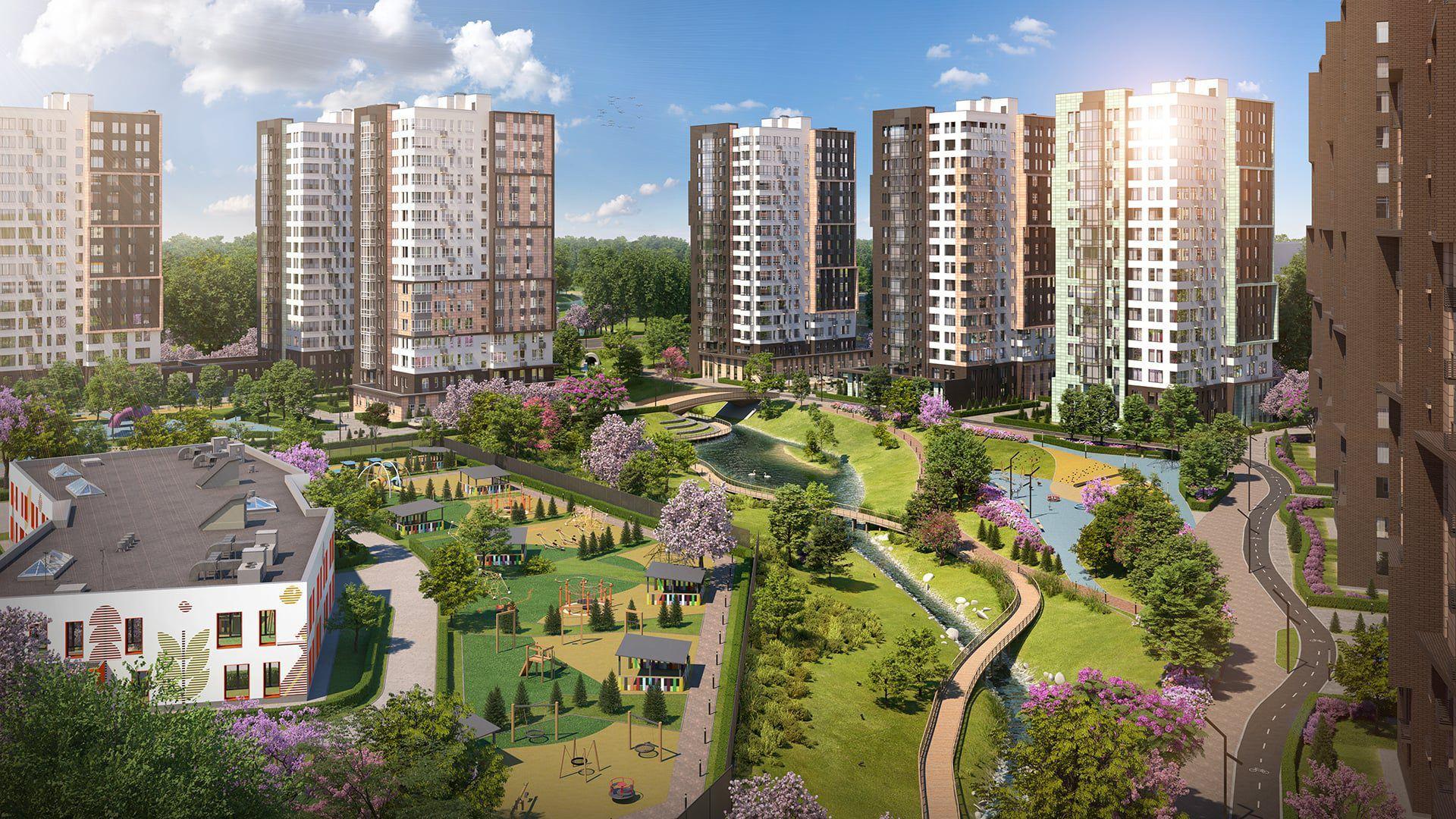 В ЖК «Скандинавия» завершено строительство двух домов на 920 квартир