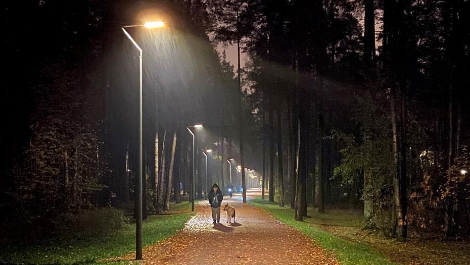 Новые фонари и прожекторы установили в Сосновке