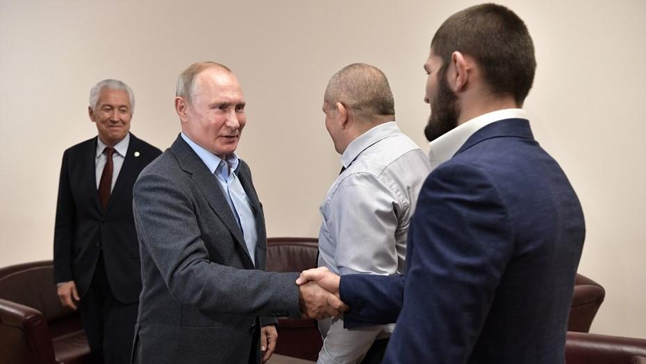 Путин лично встретится с Нурмагомедовым после титульного боя