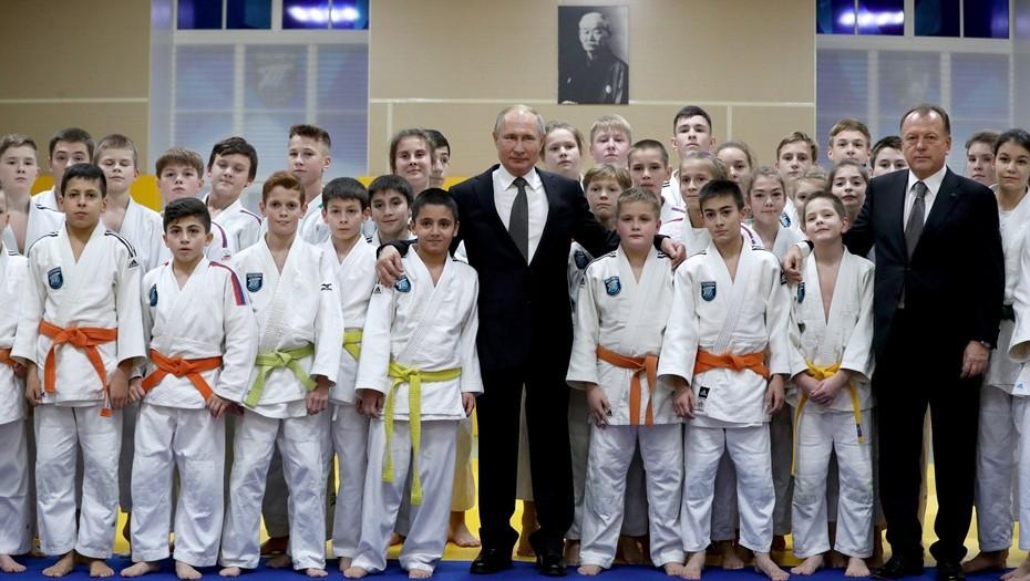 Путин поздравил Федерацию дзюдо Петербурга с 85-летием