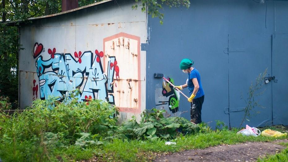 В центре Петербурга обнаружили более 150 вандальных и экстремистских рисунков