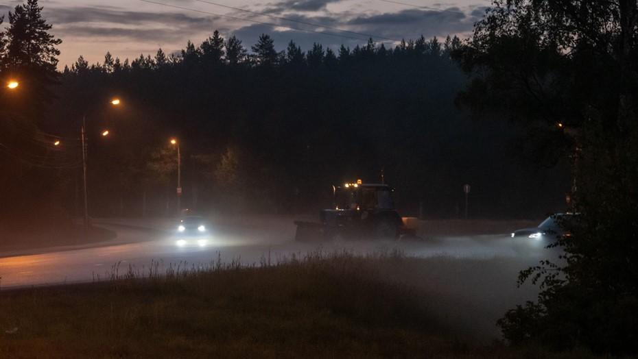 Видимость менее 500 метров: МЧС предупредило и сильном тумане в Ленобласти