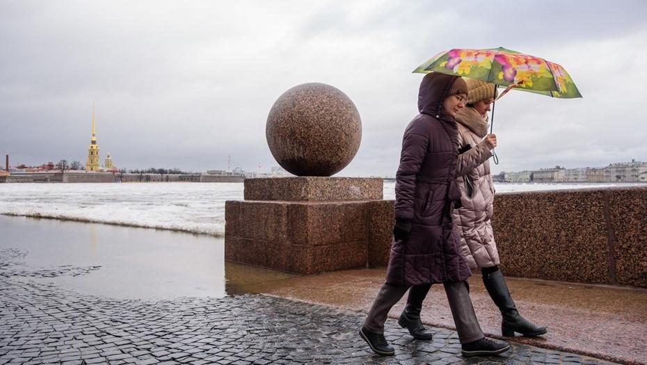 На дорогах сложная обстановка: воскресенье в Петербурге будет мокро и ветрено