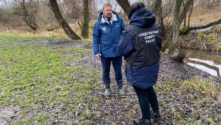 СК РФ устанавливает причины изменения цвета реки в парке Александрино
