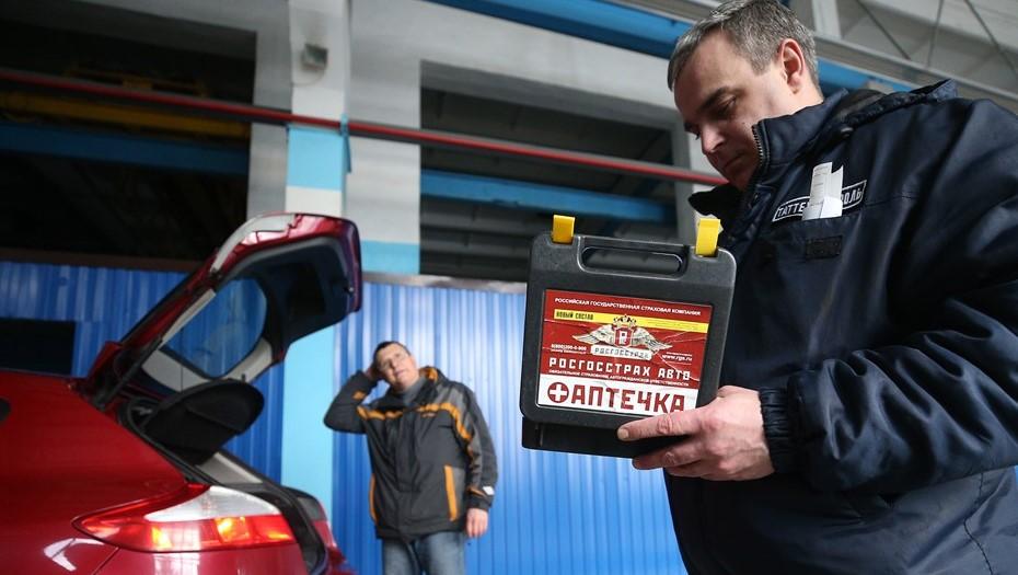 Водители с нового года смогут сами собирать автоаптечку