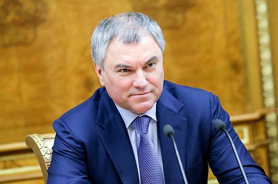 Володин поздравил сотрудников налоговой службы с профессиональным праздником