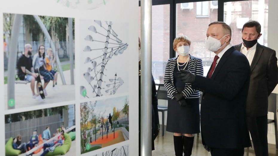 Беглов открыл центр компетенций по развитию комфортной городской среды