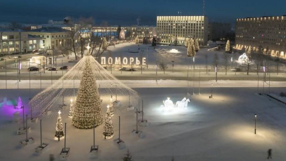 Главную площадь Архангельска перекроют 23 января для демонтажа ёлки