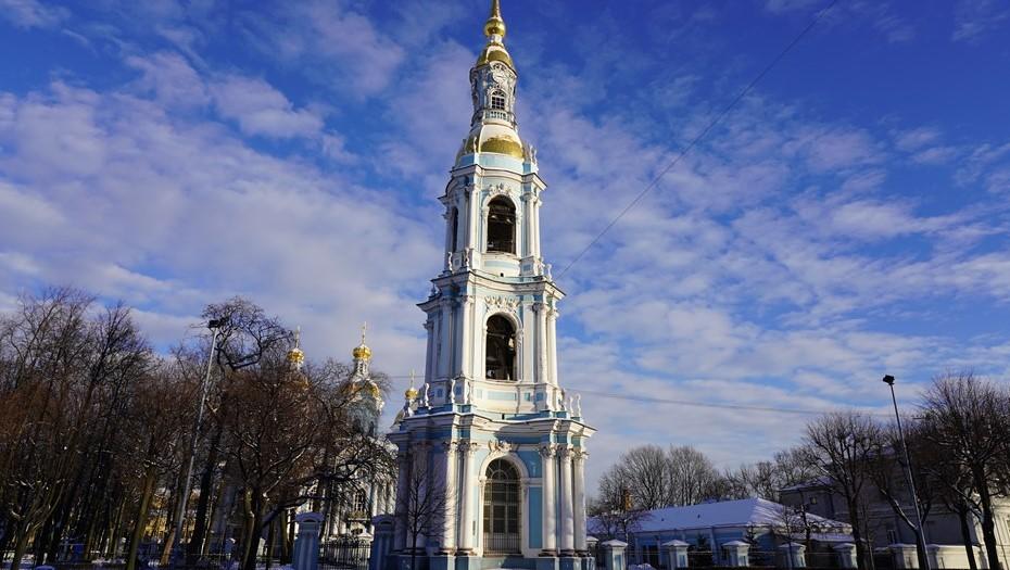 Колокольню Никольского морского собора закроют на реставрацию