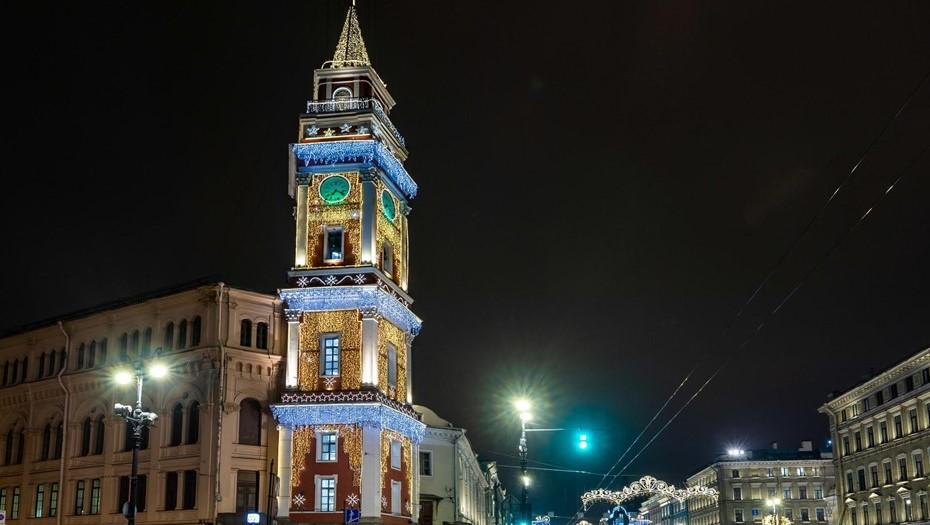Невский проспект стал пешеходным в новогоднюю ночь