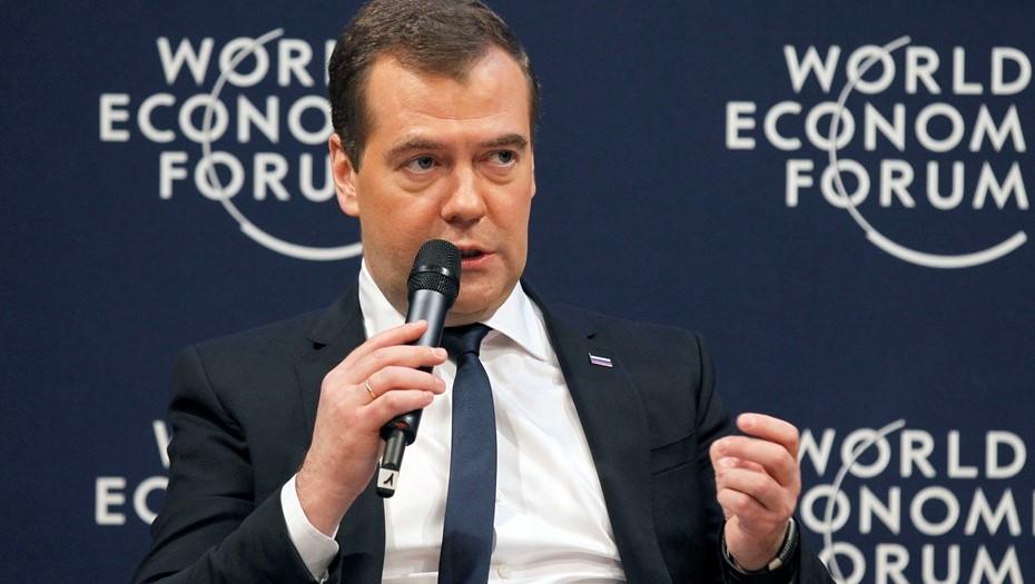 В 2013 году Дмитрий Медведев участвовал в форуме в качестве премьер-министра РФ.