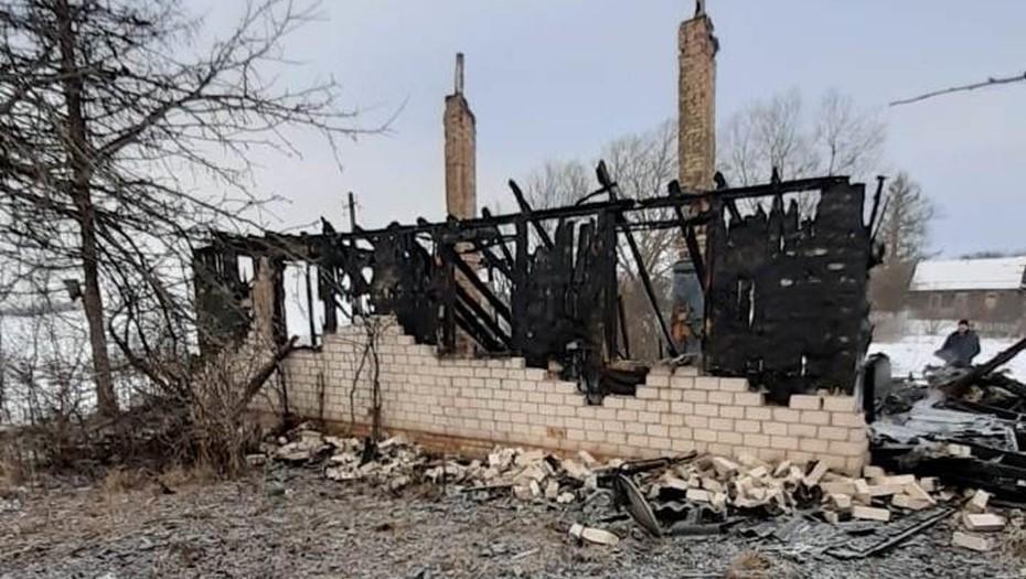 В Псковской области сгорел жилой дом, погибли пять человек