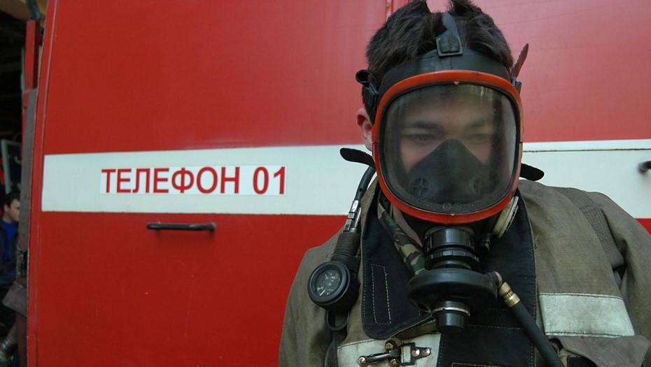 На лыжной базе во Всеволожском районе загорелась хозпостройка