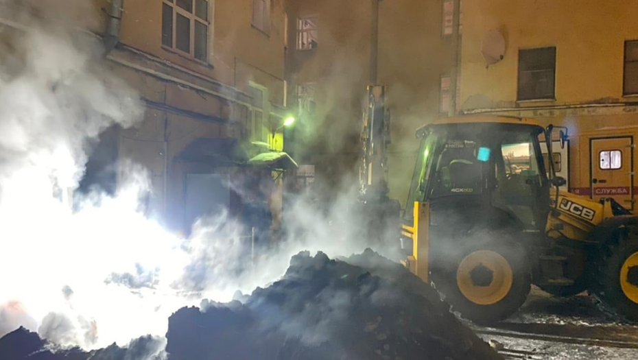 Отключенный из-за аварии квартал в центре Петербурга снова отапливается