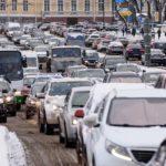 Петербург вновь застыл в гигантских пробках