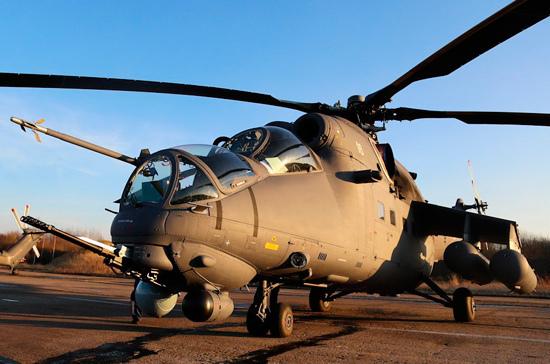 Российский вертолет совершил вынужденную посадку в Сирии