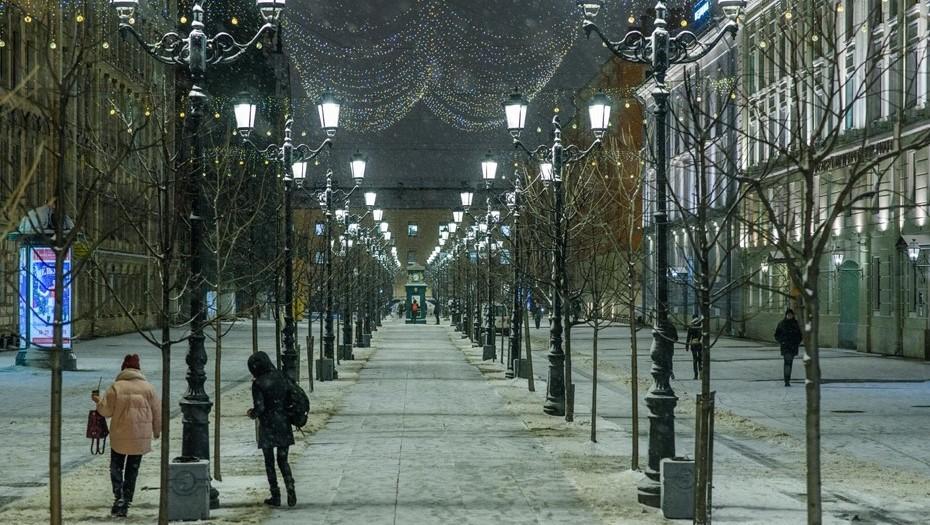 Скандинавская зима: февраль в Петербурге начался со снегопада