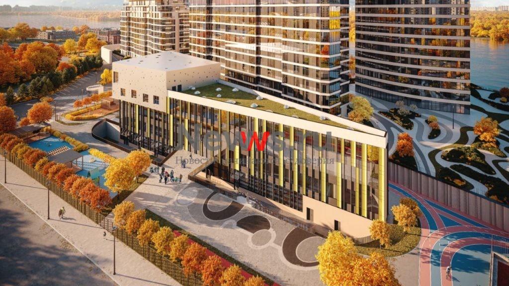 На севере столицы компания Wainbridge приступила к строительству «треугольного» здания учебного центра