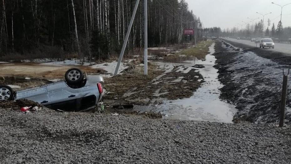 """На """"Сортавале"""" авто с иностранными номерами съехало в кювет, водитель погиб"""