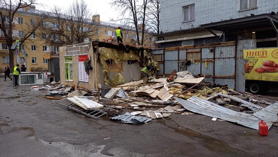 В Петербурге от нелегальных ларьков освободили ещё пять участков