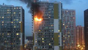 Люди в панике: жители сообщили о сильном пожаре в Кудрово