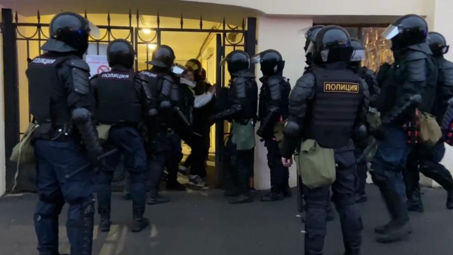 МВД заявило о 4,5 тыс. протестующих на акции в Петербурге