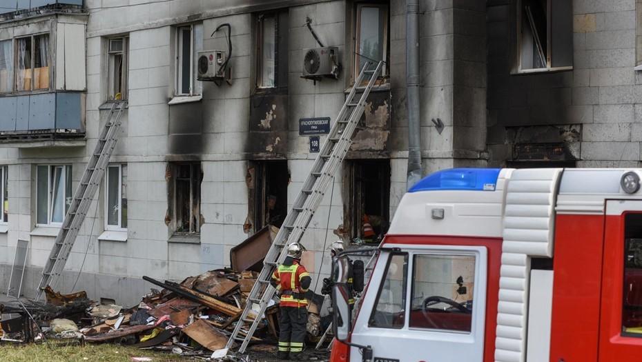 Под Петербургом сгорела бывшая база отдыха