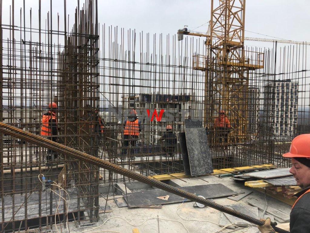 АО «Мосотделстрой №1» в ЖК «Терлецкий парк» приступил к наращиванию высотности еще на одном блоке