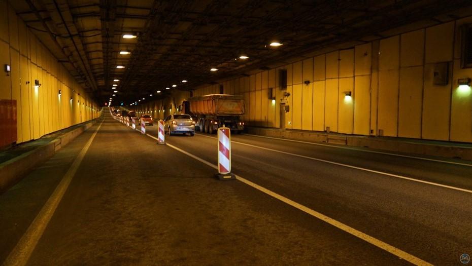 В тоннеле дамбы до конца рабочей недели ограничат движение