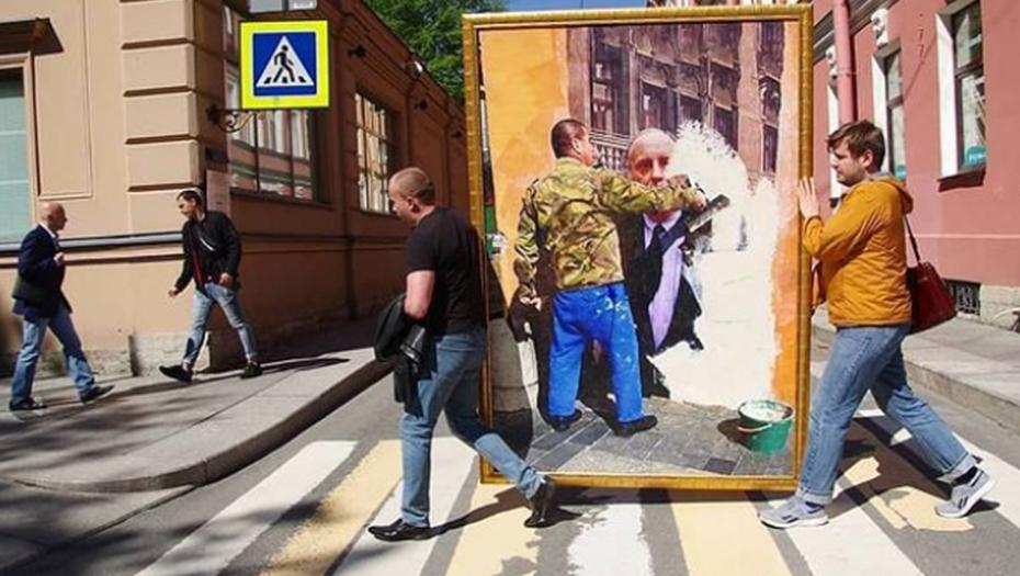 День рождения Бродского в Петербурге отметили закрашиваем портрета поэта