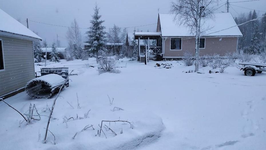 Карелию заносит снегом
