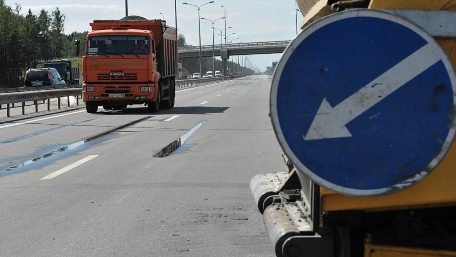 На участке КАД до конца мая перекроют две полосы движения