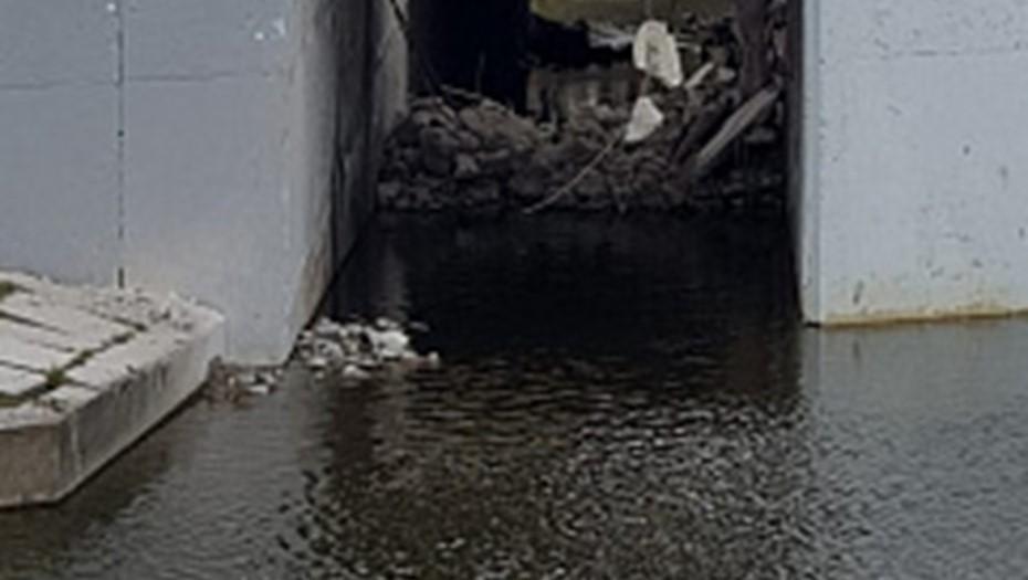 Росприроднадзор начал проверку по факту сброса бетона в Дудергофку