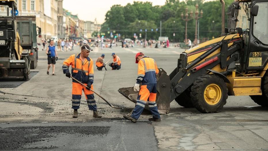Северный участок проспекта Энгельса отремонтируют к середине июля