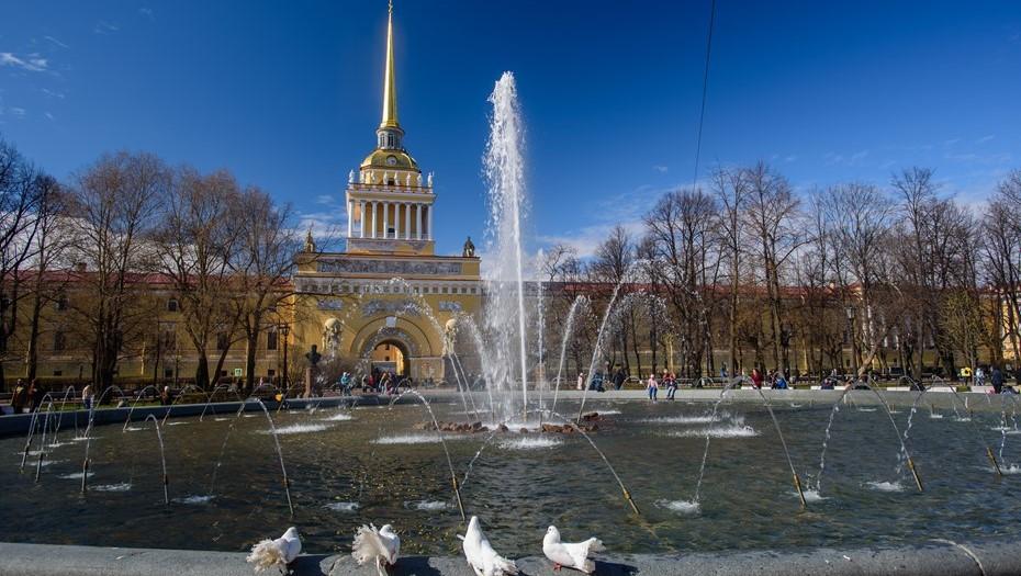 В Петербурге на Первомай открыли сезон фонтанов