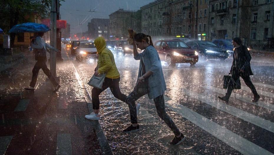 В Петербурге с приходом грозы снова закрыли парки и скверы