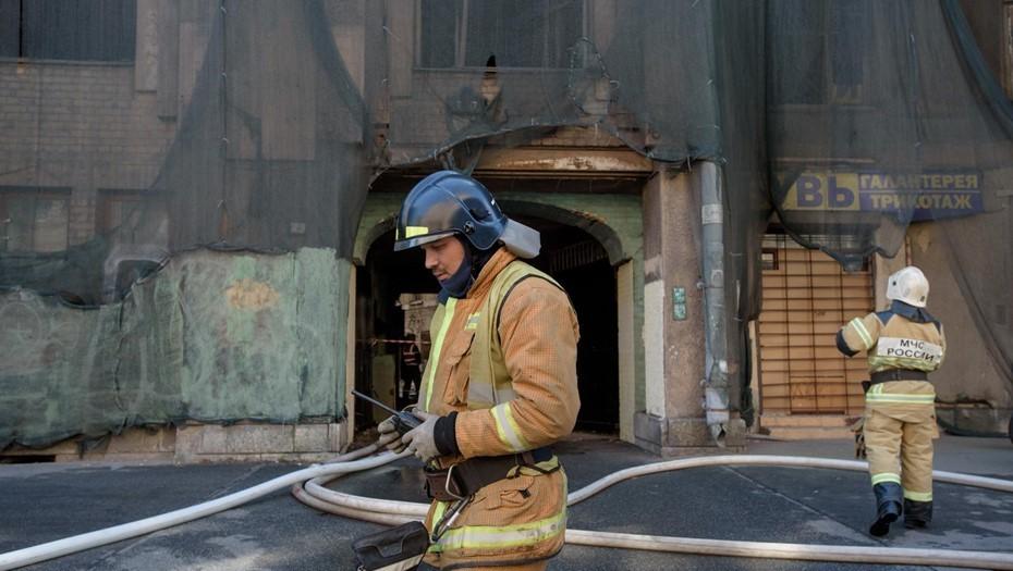 В загоревшемся доме Басевича обрушились перекрытия трёх этажей